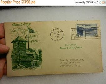 Summer Sale Vintage 1934 Century of Progress Fort Dearborn First Day Cover Postal History