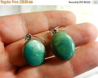 Summer Sale Vintage  Sterling & Turquoise Earrings