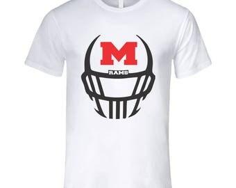 Rams Football Helmet T Shirt