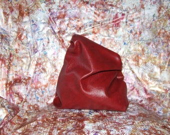One Off Red Hand Sculpted Bag