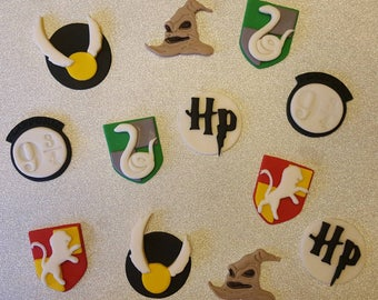 Harry Potter Edible 3D Cupcake Toppers