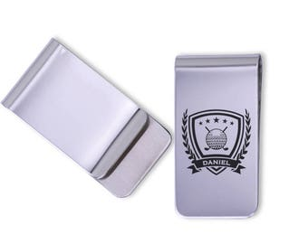 Personalized Golf Money Clip/Laser Marked/gift for him/sports gift, golf gift, engraved golf gift