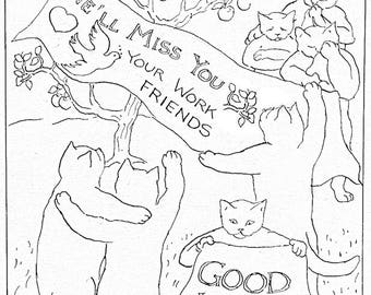 We 39 ll miss you etsy for We will miss you coloring pages