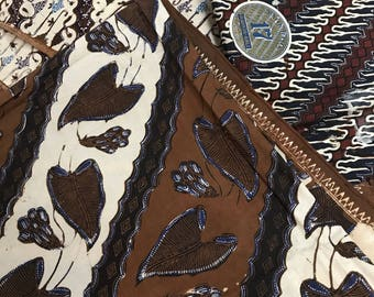 Antique Javanese batik fabrics