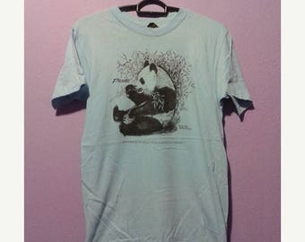 1000 ON SALE Vintage 80s retro bamboo and panda art by jim morris tee shirt