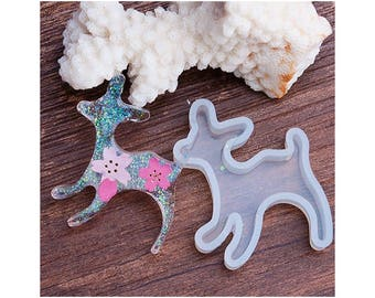 Deer 45mmx37mm for Creations resin Fimo silicone mold