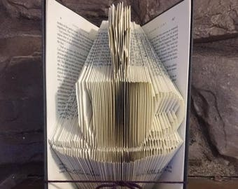 Cup and Saucer Book Sculpture