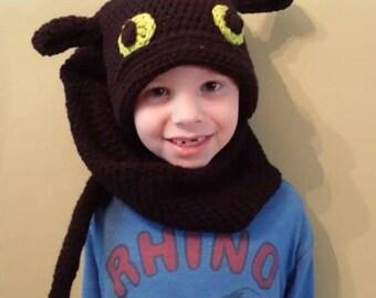 Dragon kids crochet hat