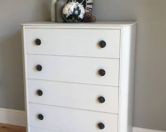 Vintage Austin Suite Wooden Painted Chest of Drawers (delivery quote available on request)