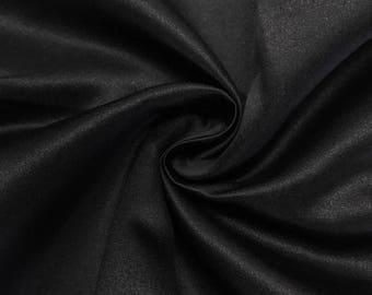 "Black Matte Satin (Peau de Soie) Duchess Fabric Bridesmaid Dress 60"" Wide Sold BTY"