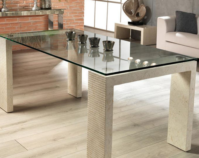 Custom Made Base in Marble for Table Original Made in Italy Home Living Dining Coffee Tables