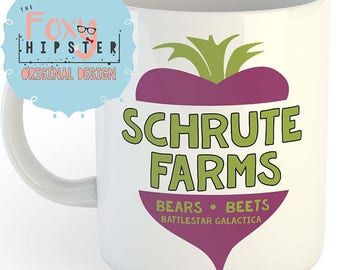 Schrute Farms 11oz coffee mug The Office Inspired