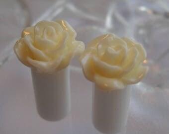 2g Plug, 2g Rose Plug, 2g White Rose Plug