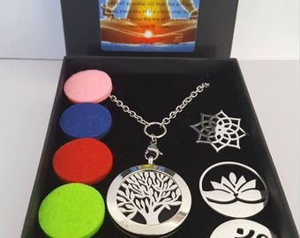 Spiritual Set- Interchangable  Diffuser Necklace Set