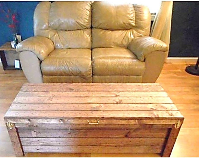 Wood Coffee Table Hidden Compartment
