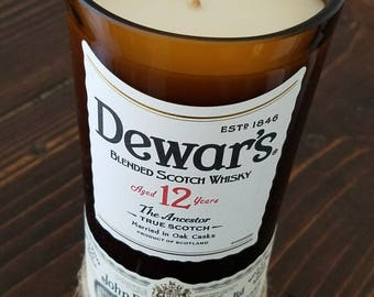 Dewar's whisky candle
