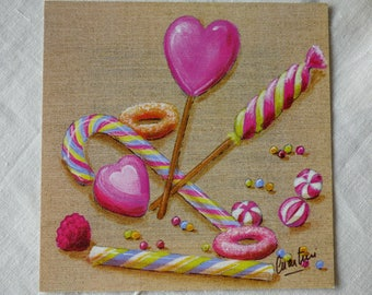 Card candy ref10 for cartonnage or framing