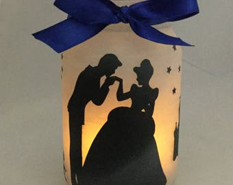 Cinderella Jar Lantern - Cinderella Luminaire - Flameless Votive Holder - Mason Jar Nightlight