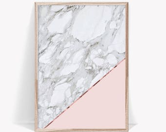 Marble Digital Download, Pink Wall Art, Pink Marble Print, Marble Wall Art, Large Wall Art, Large Format Poster, Modern Marble Poster
