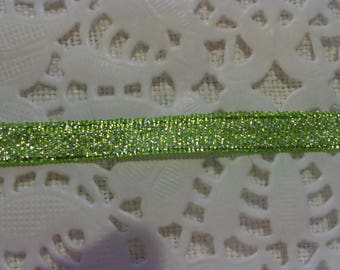 Green Silver Ribbon width 0.7 mm for your creative activities