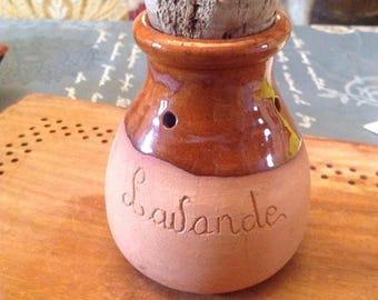 A vintage french lavender pot