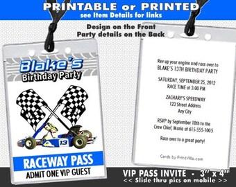 Red Carpet Paparazzi VIP Pass Birthday Party Invitations