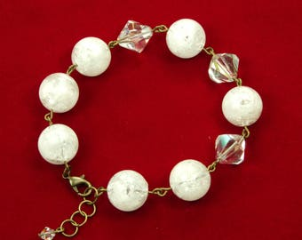 Sparkling Ice and Snow Christmas Bracelet