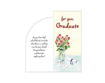 For You Graduate Roses Printable Money Gift Card Plus Envelope PDF Templates