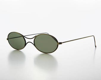 Steel Spectacle Small Oval Retro Victorian Steampunk Sunglass - Kepler