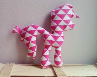 Plush Pony Triangles Roses for children, babies