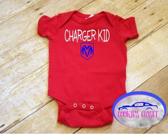 Charger Kid Infant One Piece Bodysuit (creeper) Perfect gift for the Dodge Charger car lover & their little boy!