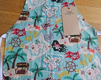 Childrens aprons pirate fabric