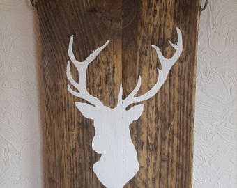 Stags head hanging sign