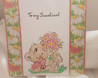 Valentine's Day card with teddy bear