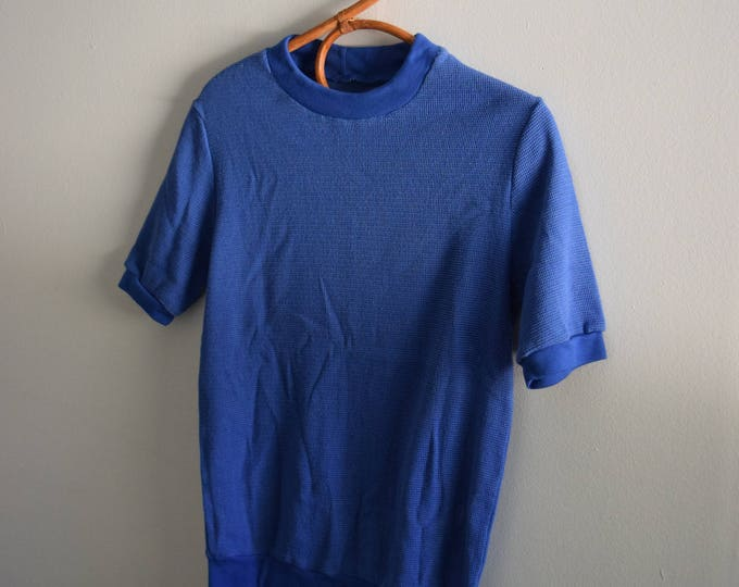 royal blue mesh tee.