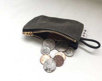 Waxed Canvas Coin Pouch