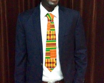 Men's  Kente Print Neck Tie