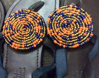 Handmade beaded sandals