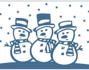Crafts-Too SNOWMEN A6 Christmas Craft Embossing Folder Card Making