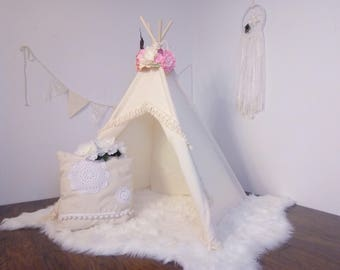 S Boho toddler teepee/photo prop tent / Kids play tent/ toddler teepee photo prop