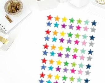 Rainbow Stars Stickers! Perfect for your Erin Condren Life Planner, calendar, Paper Plum, Filofax!