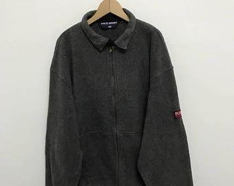 20% OFF Vintage Polo Sport Fleece Jacket/Polo Sport Zipper Jacket/Polo RL-67 Jacket/Polo Ralph Lauren