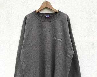 20% OFF Vintage Champion Sweatshirt/Champion Sweater/Champion C Logo/Champion Clothing/Champion Spellout
