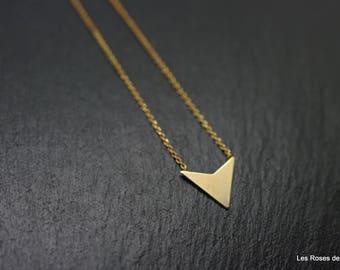 graphic pendant point pendant, gold