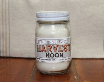 Fall Candles, Harvest Moon, Harvest Candles, soy candles handmade, soy candles, autumn candles, harvest