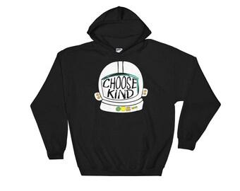 Choose Kind Helmet Hoodie Sweater - Hooded Sweatshirt Teacher Gift Teacher Shirt Be Kind Shirt