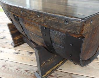 wine barrel coffee table handmade wine barrel furniture table with storage compartment oak