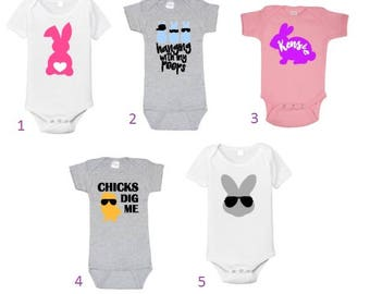 Easter Bodysuits//Fun Easter Clothing//Customized Easter Bodysuits//Bunny Bodysuits//Baby Clothing//Baby Easter