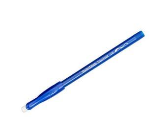 Paper Mate EraserMate Ballpoint Pen, Medium Point, Blue Ink, 4-Count