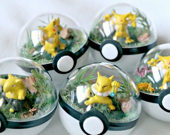 Poke Ball Terrariums - Kadabra Set - Small 2 inch